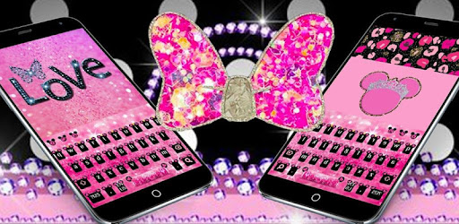 Pink Cute Minny Bowknot Keyboard Theme for PC