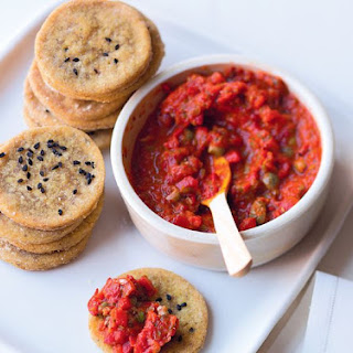 Chickpea Bites With Roast Pepper Tapenade