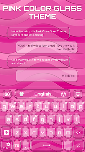 Go Keyboard Pink Color Glass