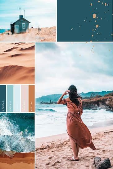 Summer Beach Collage - Pinterest Pin Template