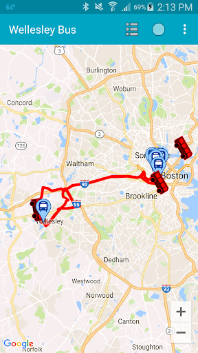 Wellesley College Bus Tracker ss1