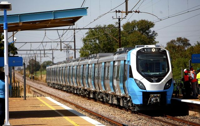 The first Prasa Test Train took to the track at the Medunsa station outside Pretoria on Monday. Picture: THE TIMES