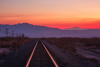 Photo: Into the Sunset - Mojave national Preserve, California.