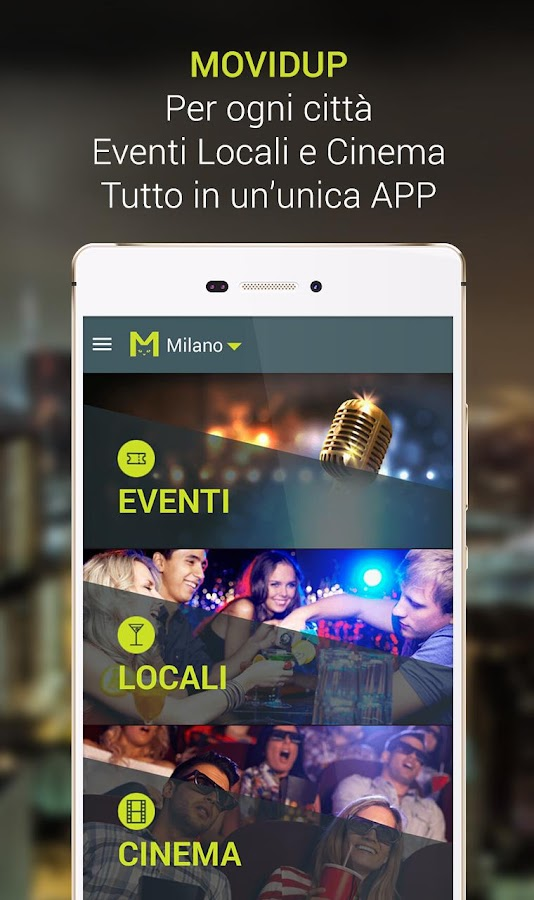 Movidup: eventi,locali,cinema- screenshot