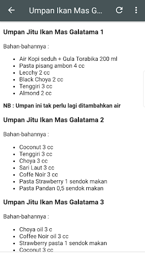 Resep Jitu Umpan Galatama 8.8 screenshots 5