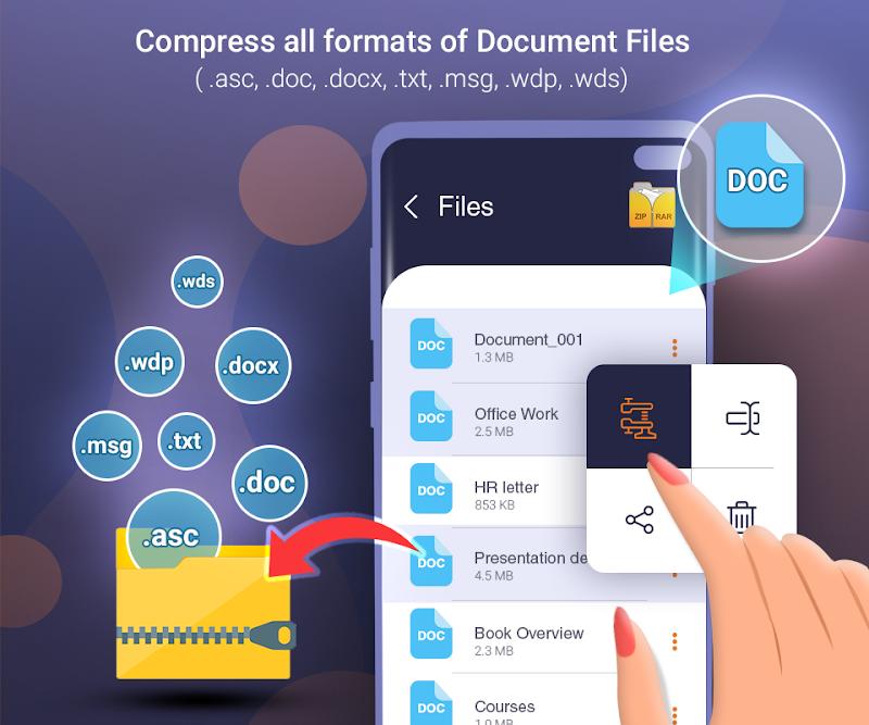 Files Archiver rar Zip Unzip files Screenshot 7