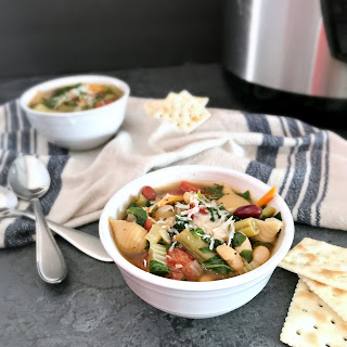 Pressure Cooker Minestrone Soup.