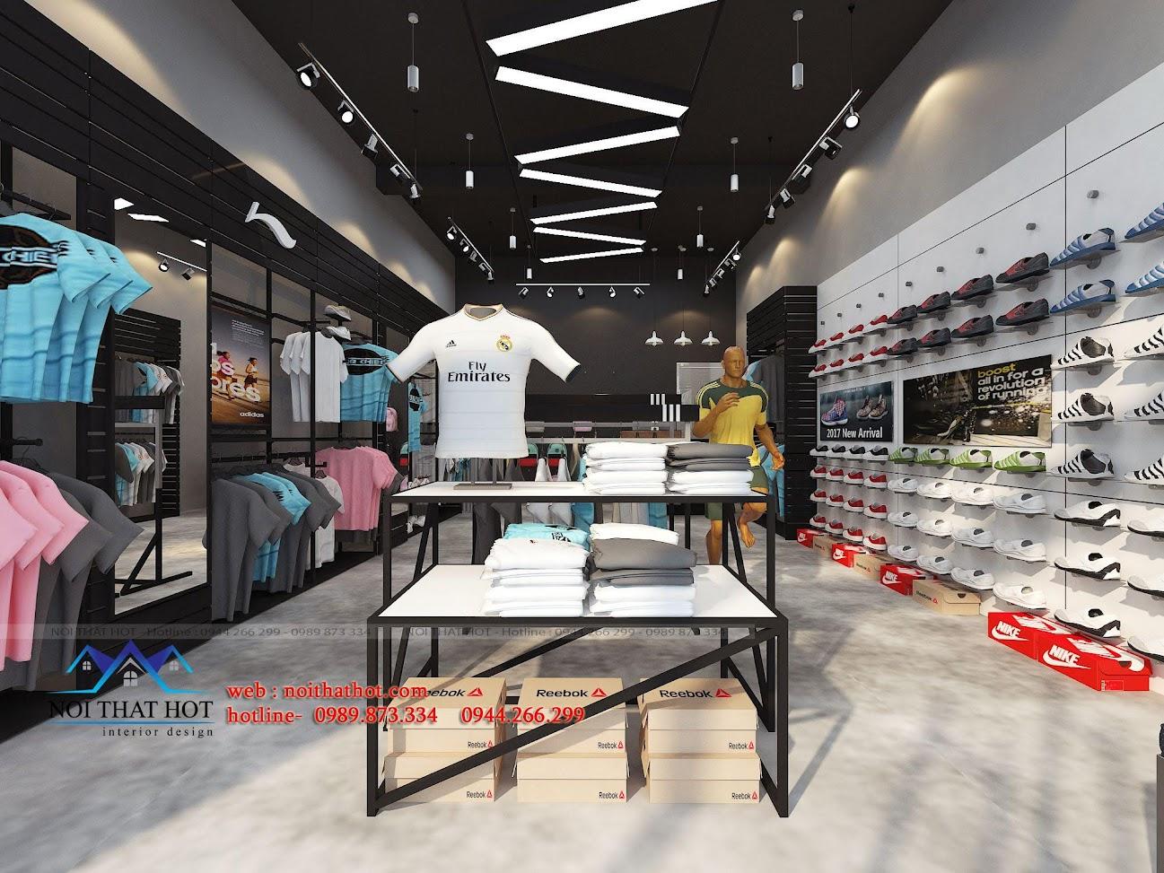 thiết kế shop thời trang adidas 2
