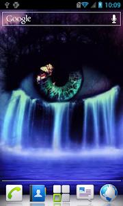 Eye waterfall live wallpaper screenshot 2