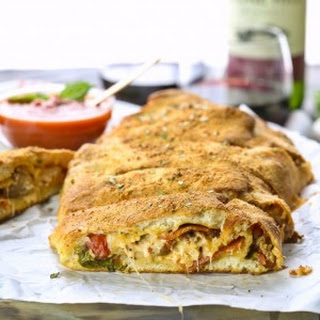 Super Easy Sausage and Pepperoni Stromboli