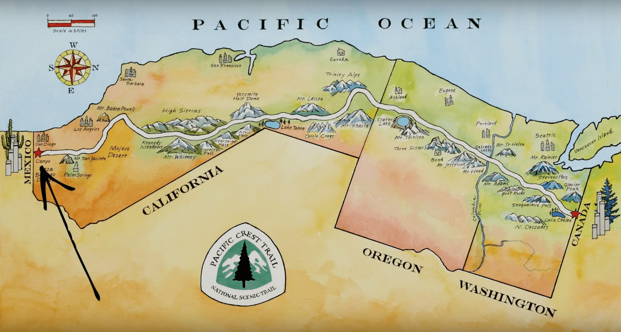 Маршрут Тихоокеанського Хребта