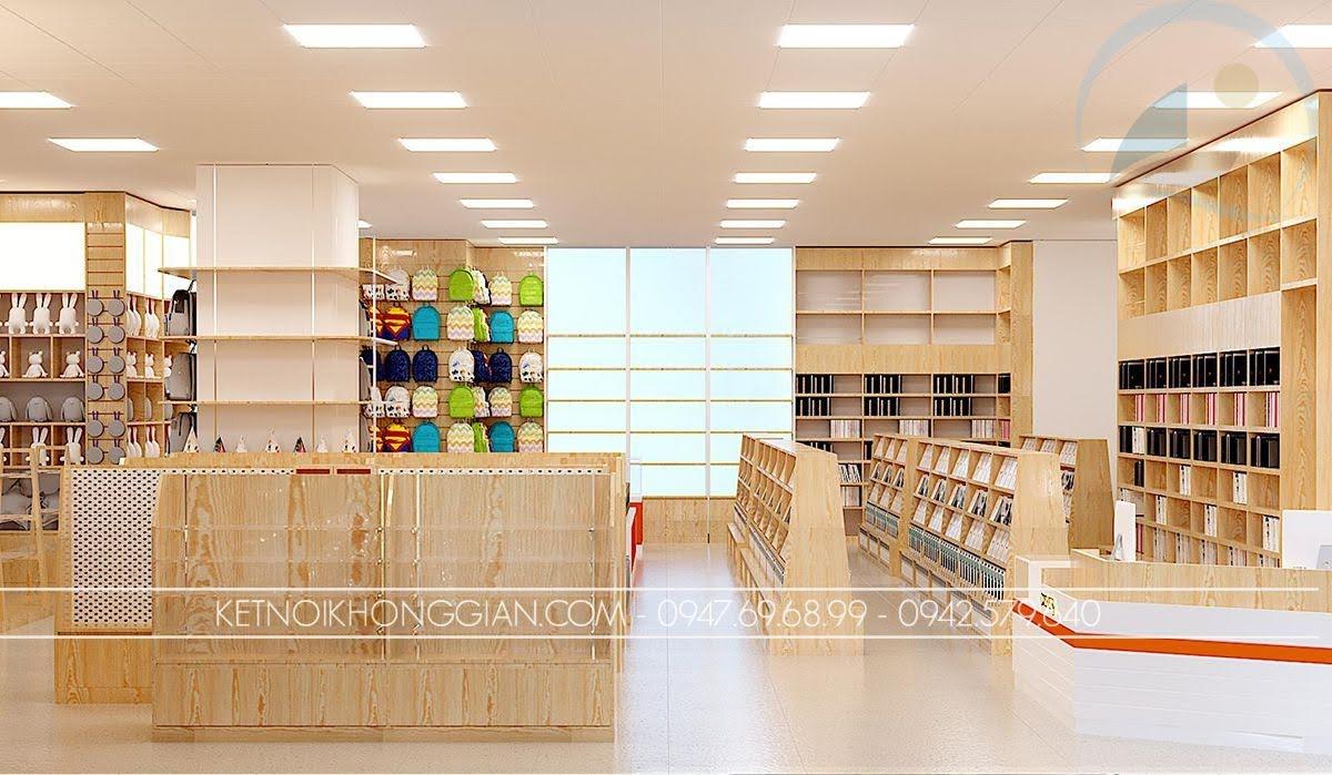 thiết kế nhà sách văn phòng phẩm