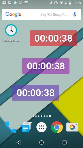 Floating Stopwatch, free multitasking timer 3.6.1 screenshots 2
