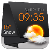 3D Current Temp Clock Widget