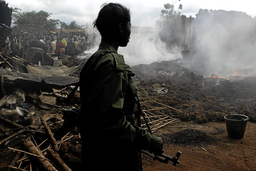 A rebel soldier in the DRC. Picture: REUTERS