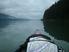 Photo: Looking northwest up Gastineau Channel toward Juneau.