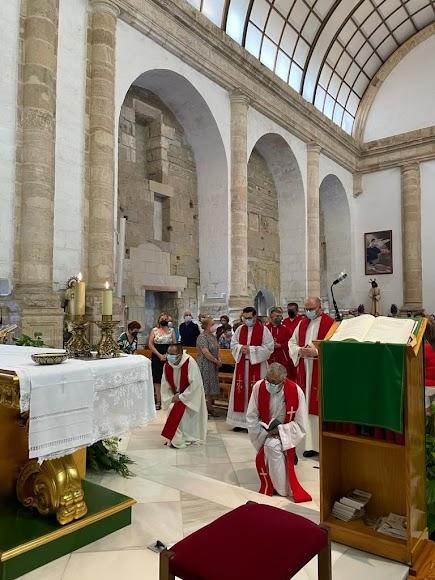 Inicio de la eucaristía en San Juan.