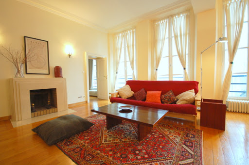 Living room at Rue Coquillre