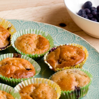 Blueberry fromage frais fairy cakes with My First Petits Filous - Baby S's first bake!.