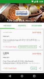 Ebates Cash Back & Coupons Screenshot 1