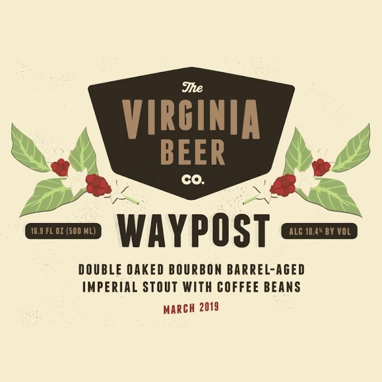 Logo of Virginia Beer Co. Waypost: Double Oaked Coffee
