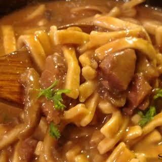 Crock Pot Beef & Noodles.