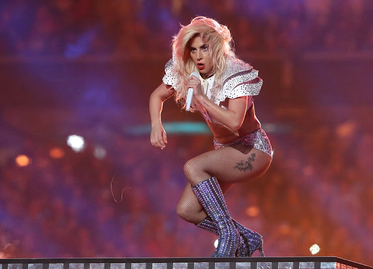 Singer Lady Gaga performs during the halftime show at Super Bowl LI between the New England Patriots and the Atlanta Falcons in Houston, Texas, U.S., February 5, 2017.