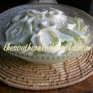 CUCUMBERS in VINEGAR & CREAMED CUCUMBERS Recipe