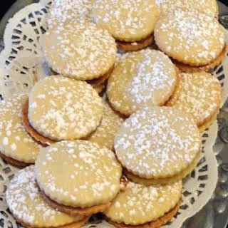Dulce de Leche (Caramel) Filled Shortbread Cookies.