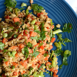Low Fat Peanut Cauliflower Rice
