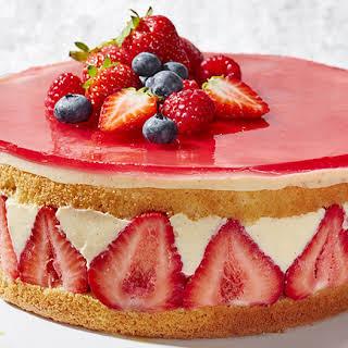 Strawberry Fraisier Cake.