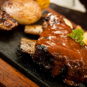 Ribs by Nugroho Kristanto - Food & Drink Eating ( bakar, ribs, iga, batu, nugroho, kristanto )