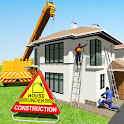 House Building Construction Games - House Design icon