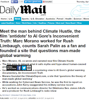 Marc Morano behind Climate Hustle worked for Rush Limbaugh and counts Sarah Palin as a fan | Daily Mail Online