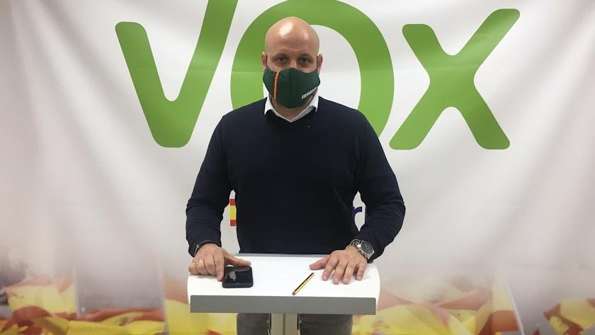 Rodrigo Alonso, portavoz adjunto de Vox en el Parlamento de Andalucía.