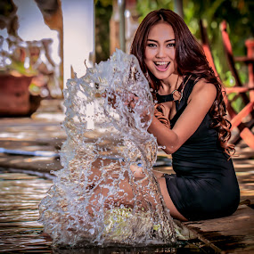 PLaying water by Ricky Agvirty - People Portraits of Women ( model beauty )