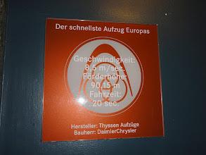 Photo: Der schnellste Aufzug Europas
