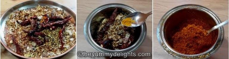freshly ground kolhapuri masala is ready