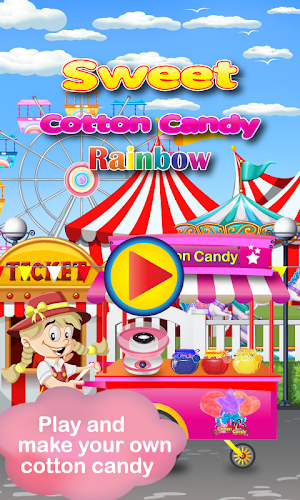 Download Rainbow Cotton Candy Maker APK latest version game