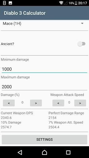 Diablo 3 Weapon Calculator 1.1.0 screenshots 2