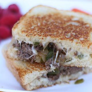 Ground Beef Philly Cheesesteak Sandwiches.