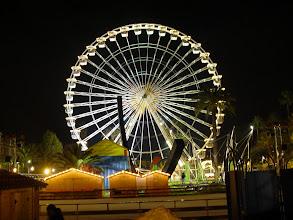 Photo: The large Ferris Wheel on the large open Espace Massena.