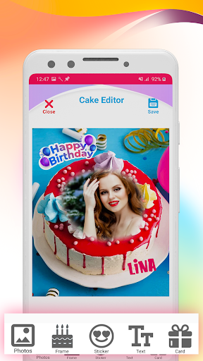Name photo on Birthday Cake Maker ss2
