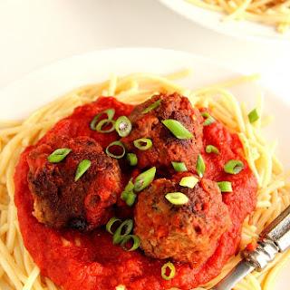 Turkey Meatballs with Garlic Spaghetti