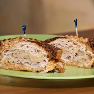 Lean Turkey Reuben With Sauerkraut.