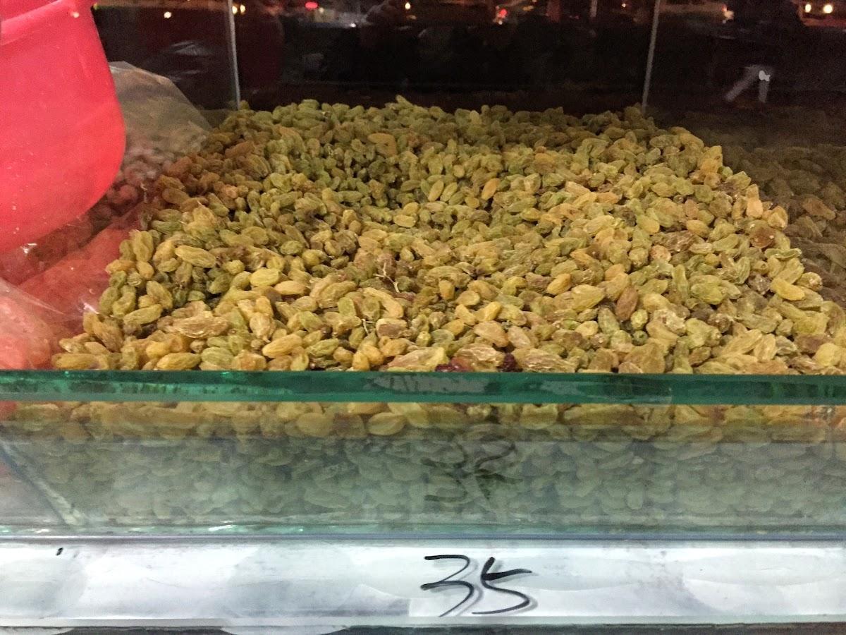 China. Xinjiang Turpan . Raisins Store 35RMB