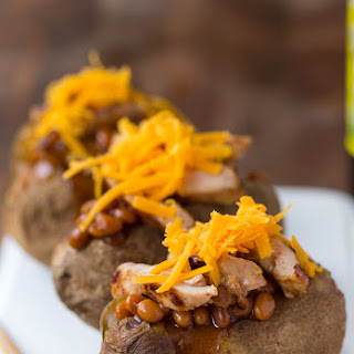 Barbecue Stuffed Baked Potatoes.