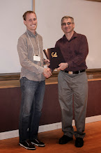 Photo: Brian Mattheew Zimmer accepting the Chair's Special Award.