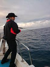 """Photo: ファーストヒットは初乗船の""""クニシタさん""""!・・・でしたが、バレちゃいました!"""