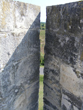 Photo: A typical archer's window on the ramparts: The archer had a wide field of view, but an attacker only a narrow opening.